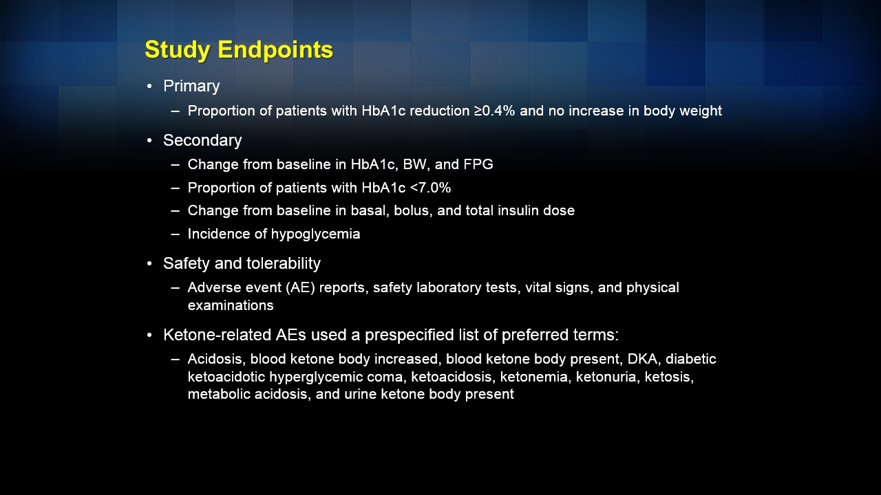 Efficacy and safety of canagliflozin: results of an 18-week
